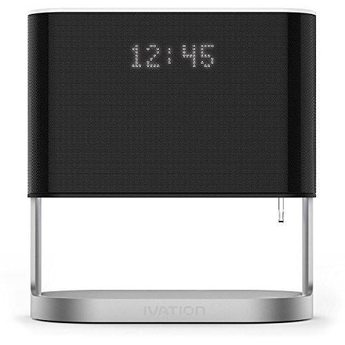 Ivation Bedside Lamp w/ Alarm Clock And Usb Charger Port