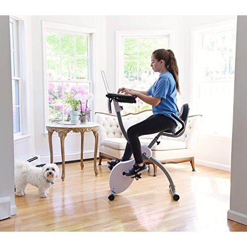 Ivation Ivation Magnetic Folding Exercise Fitness Cycle With Integrated Desk