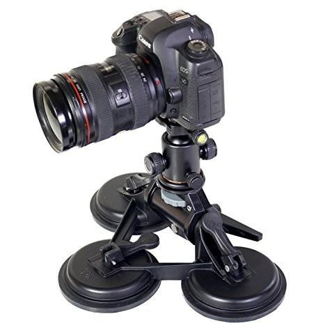 Ivation Car Rig Stabilizer w/ 3 Suction Mounts for Photography/Videography