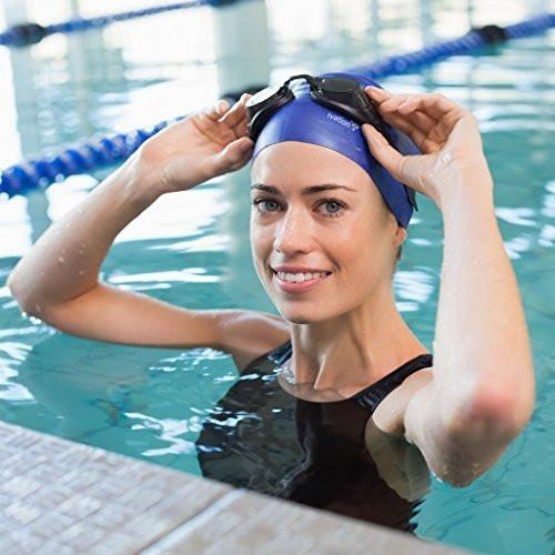 Ivation Silicone Solid Swimming Cap