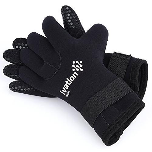 Ivation Wetsuit 3Mm Diving Premium Neoprene Five Finger Diving Gloves