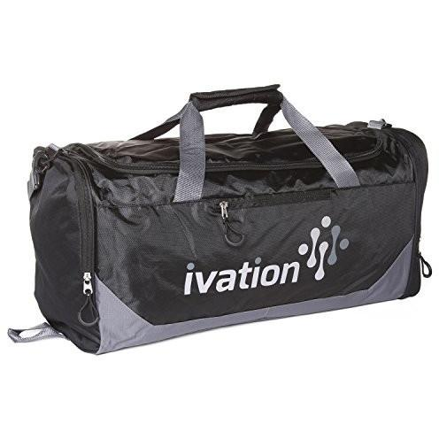 Ivation Sports Gym Duffel Bag 100% Water Repellent Polyester
