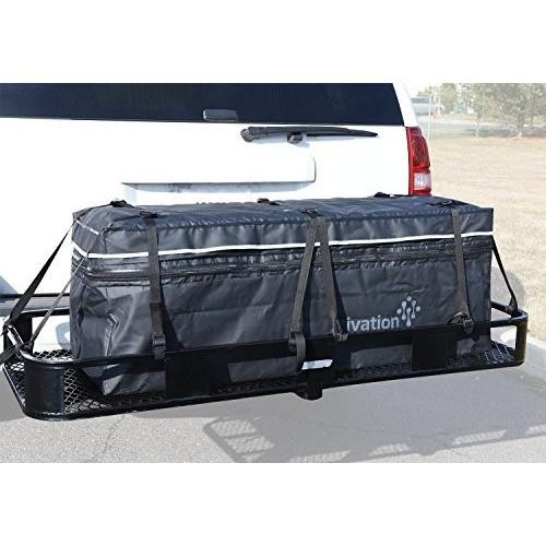 Ivation Hitch bag - 100 % Waterproof Expandable Hitch Tray Cargo carrier bag