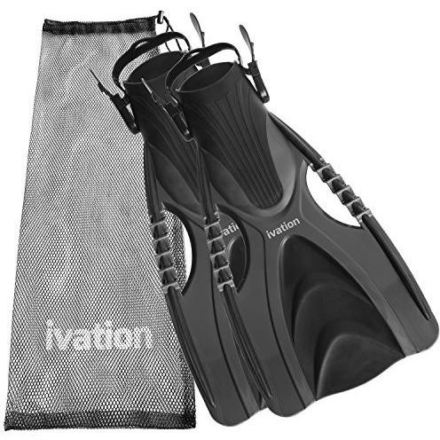 Ivation Diving Fins Swim Fins Adjustable Speed Fins, Super-Soft w/ Mesh Bag