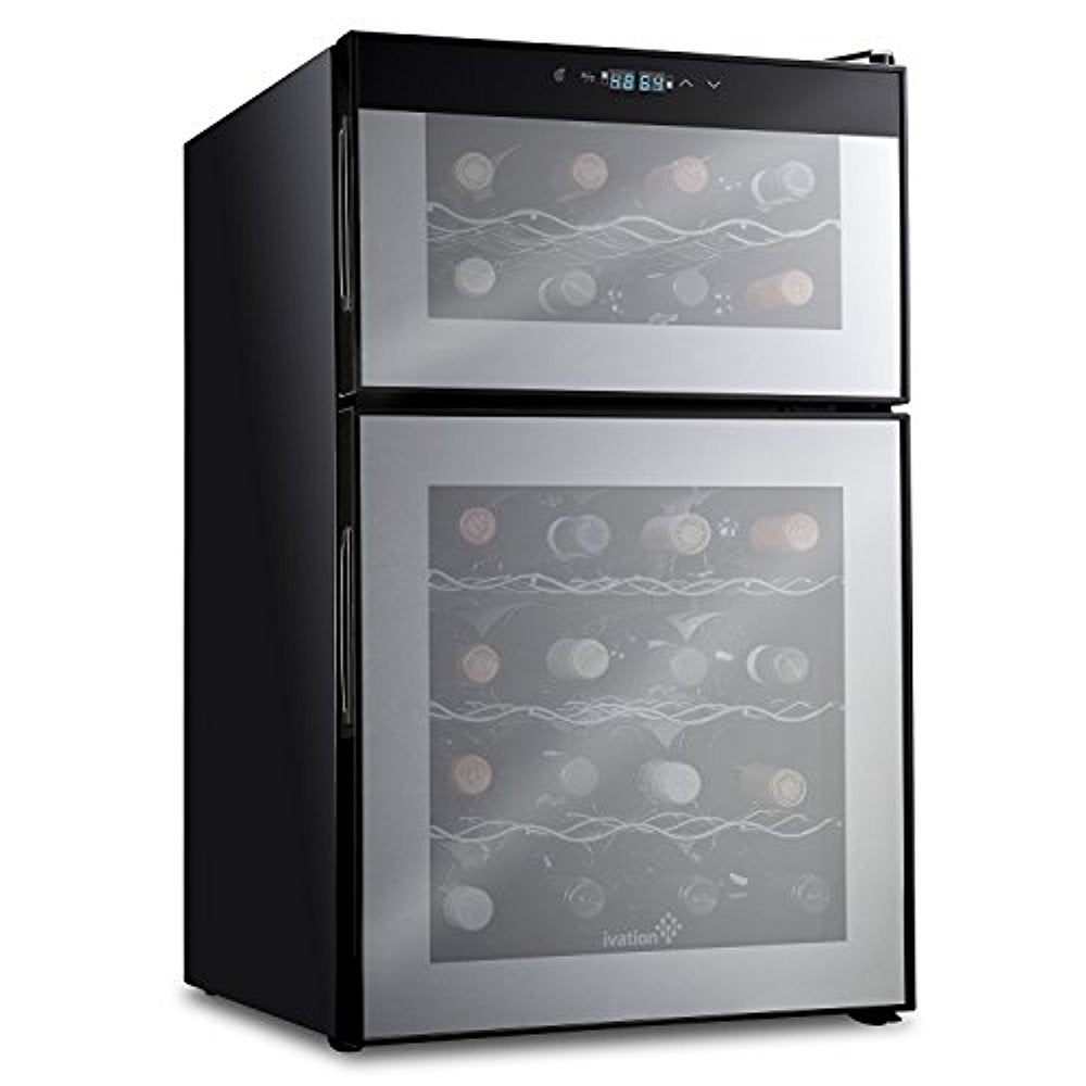 Ivation 24 Bottle Dual Zone Thermoelectric Wine Cooler