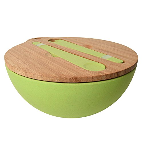 Ivation Bamboo Salad Bowl Set