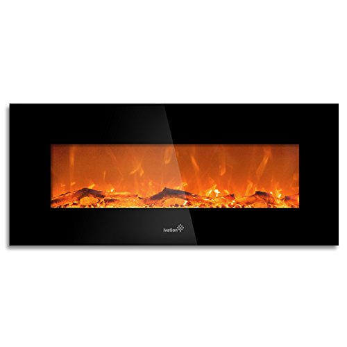 Ivation 50 in Wall Mount Electric Fireplace