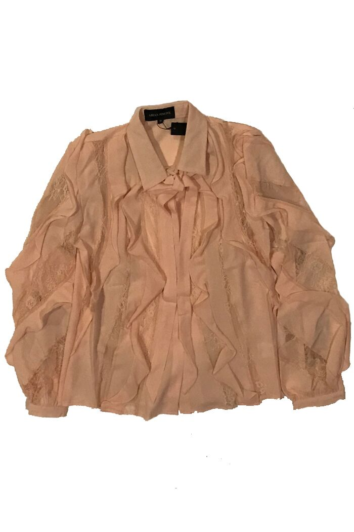 Ruffle Me Up Blush Blouse
