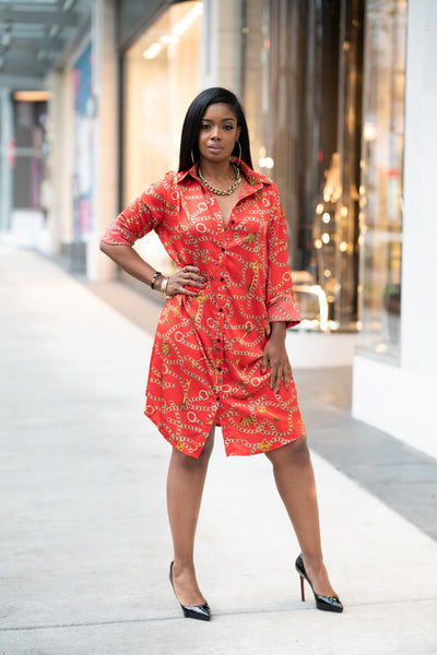 Up Street Button Up Dress