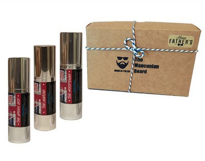 Fathers Day Classic Beard Oil Box Gift Set - Mancunian 3 x Beard Oil 30ml