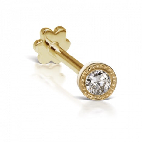 2.5mm Scalloped Set Diamond Threaded Stud