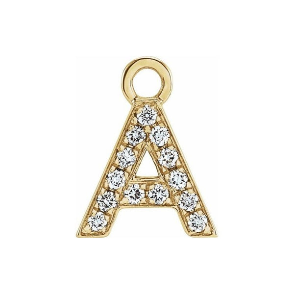 Block Diamond Initial Charm