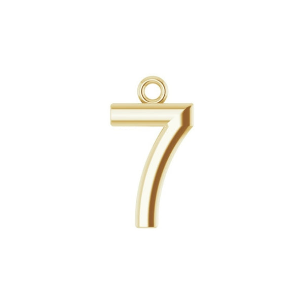 Lucky Number Charm (Plain)