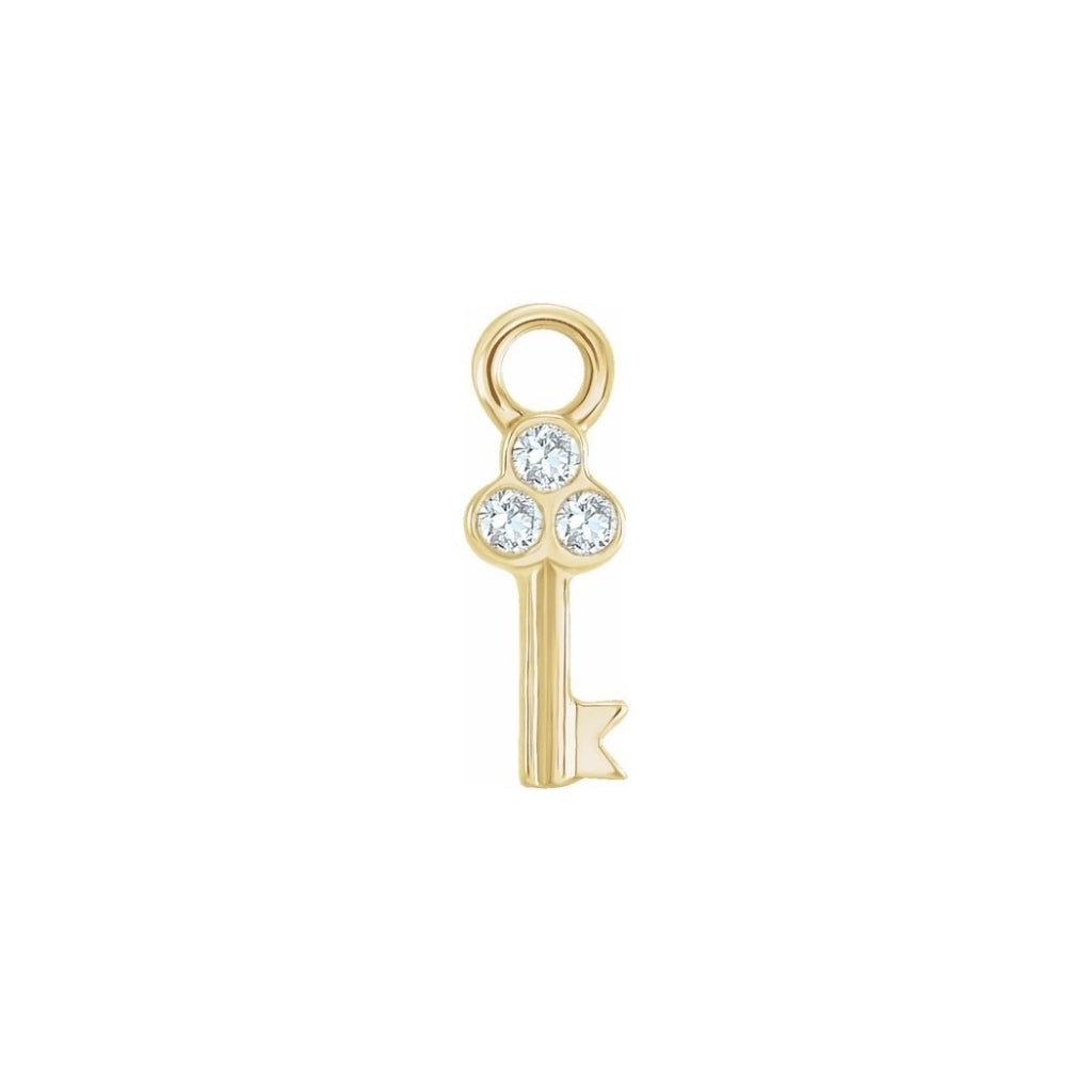Teeny Tiny Key Charm (+ Diamonds)