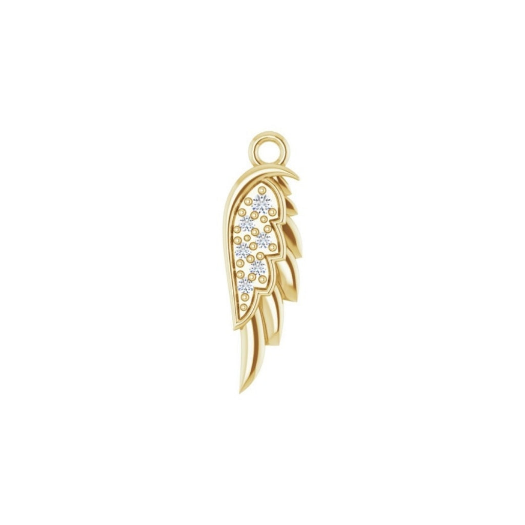 Angel Wing Charm (+ Diamonds)