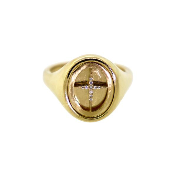 Cross Signet Ring