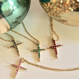 Mama Cross Necklace