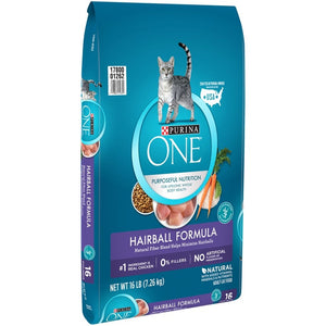 Purina ONE Advanced Nutrition Hairball Formula Dry Cat Food
