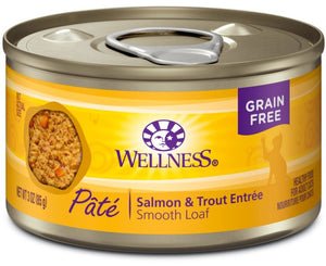 Wellness Complete Health Natural Salmon and Trout Wet Canned Cat Food