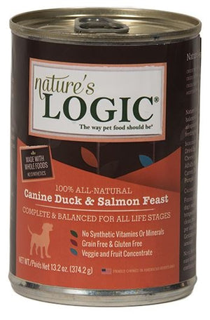 Nature's Logic Canine Grain Free Duck and Salmon Feast Canned Dog Food