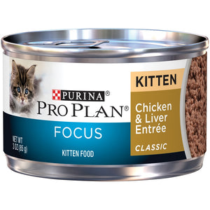 Purina Pro Plan Focus Kitten Classic Chicken and Liver Entree Canned Cat Food