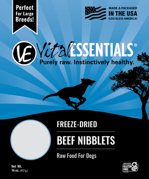 Vital Essentials Beef Nibblets Freeze Dried Dog Food