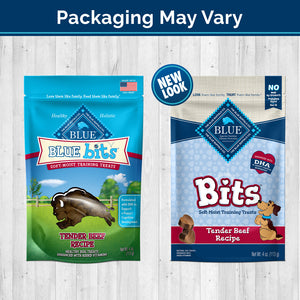 Blue Buffalo Bits Tender Beef Natural Soft Moist Training Dog Treats