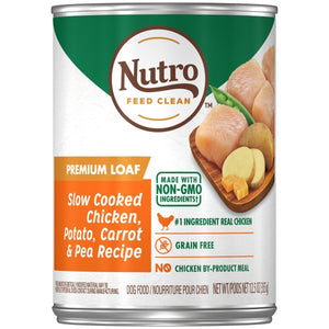 Nutro Premium Loaf Slow Cooked Chicken, Potato, Carrot & Pea Recipe Adult Canned Dog Food