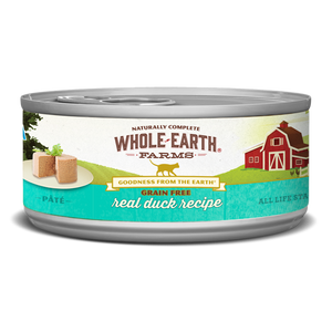 Whole Earth Farms Grain Free Real Duck Recipe Canned Cat Food
