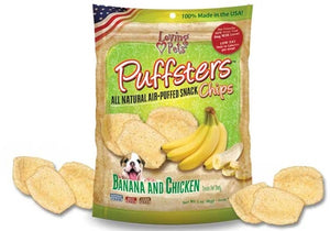 Loving Pets Puffsters Chips Banana and Chicken Dog Air Puffed Treats