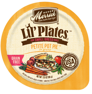 Merrick Lil' Plates Adult Small Breed Grain Free Petite Pot Pie Canned Dog Food
