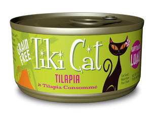 Tiki Cat Kapi'Olani Luau Grain Free Tilapia in Tilapia Consomme Canned Cat Food