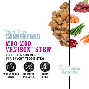 I And Love And You Grain Free Moo Moo Venison Stew Canned Dog Food
