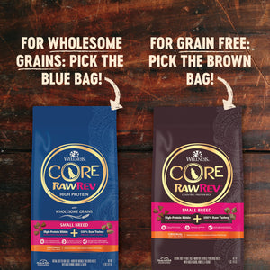 Wellness CORE RawRev Natural Small Breed Grain Free Original Turkey & Chicken with Freeze Dried Turkey Dry Dog Food