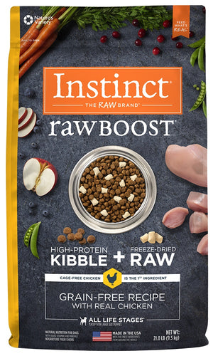 Nature's Variety Instinct Raw Boost Grain Free Recipe with Real Chicken Natural Dry Dog Food