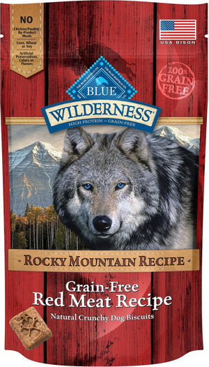 Blue Buffalo Wilderness Rocky Mountain Grain-Free Red Meat Biscuits Dog Treats