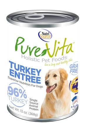 PureVita Grain Free 96% Real Turkey Entree Canned Dog Food