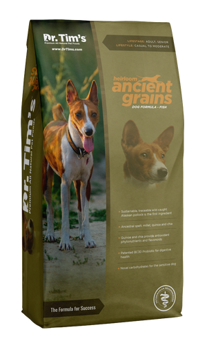 Dr. Tim's Heirloom Ancient Grains Fish Recipe Dry Dog Food
