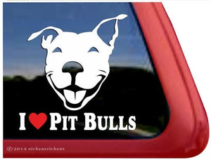 Nicker Sticker I Love Pit Bulls