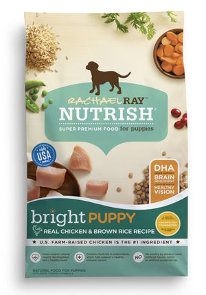 Rachael Ray Nutrish Bright Puppy Natural Chicken & Brown Rice Recipe Dry Dog Food