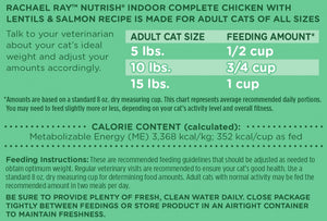 Rachael Ray Nutrish Indoor Complete Chicken & Salmon with Lentils Recipe Dry Cat Food