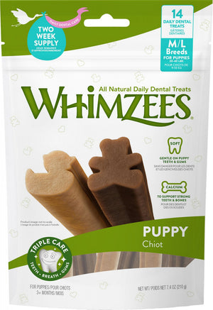Whimzees Puppy Dental Chew Dog Treats