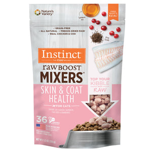 Instinct Raw Boost Mixers Grain Free Skim & Coat Health Freeze Dried Raw Cat Food Topper