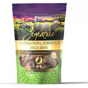 Zignature Zssential Ziggy Bars Guinea Fowl Formula Dog Treats