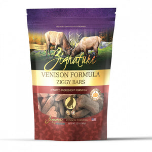 Zignature Zssential Ziggy Bars Venison Formula Dog Treats