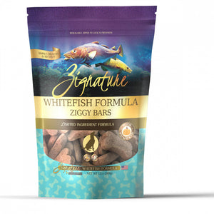 Zignature Zssential Ziggy Bars Whitefish Formula Dog Treats