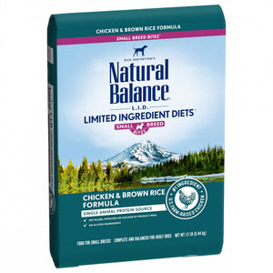 Natural Balance L.I.D. Limited Ingredient Diets Chicken & Brown Rice Small Breed Bites Dry Dog Food