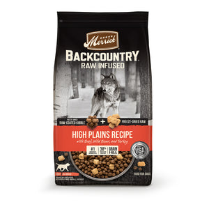 Merrick Backcountry Raw Infused Grain Free High Plains Recipe Dry Dog Food