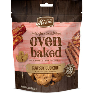 Merrick Oven Baked Cowboy Cookout Beef & Bacon Dog Treats