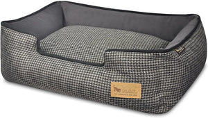 P.L.A.Y. Lounge Bed Houndstooth, Black & Gray